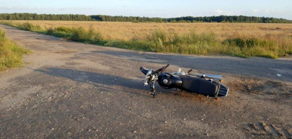 Мотоциклист опрокинулся в Ганцевичском районе