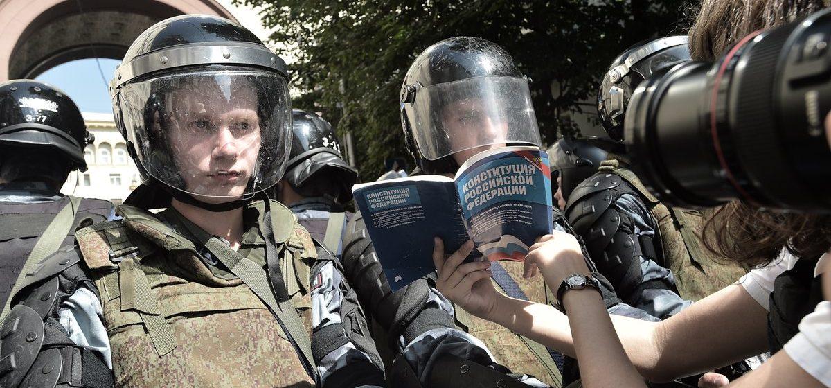 Появились новые данные о количестве задержанных в Москве