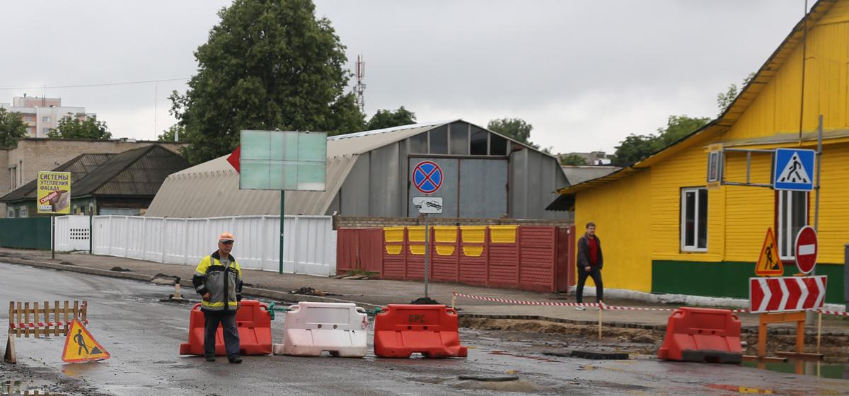Как в Барановичах ремонтируют улицы Брестскую, Притыцкого и Грицевца. Фотофакт
