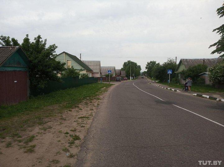 Улица в Лепеле, на которой произошло преступление. Фото: tut.by