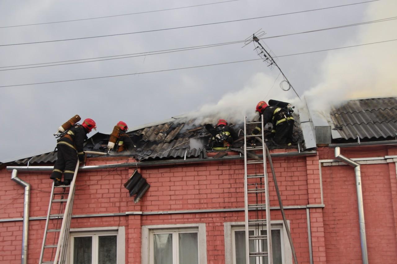 Пожар на Першукевича, 1 июля. Фото: Натальи Набоковой