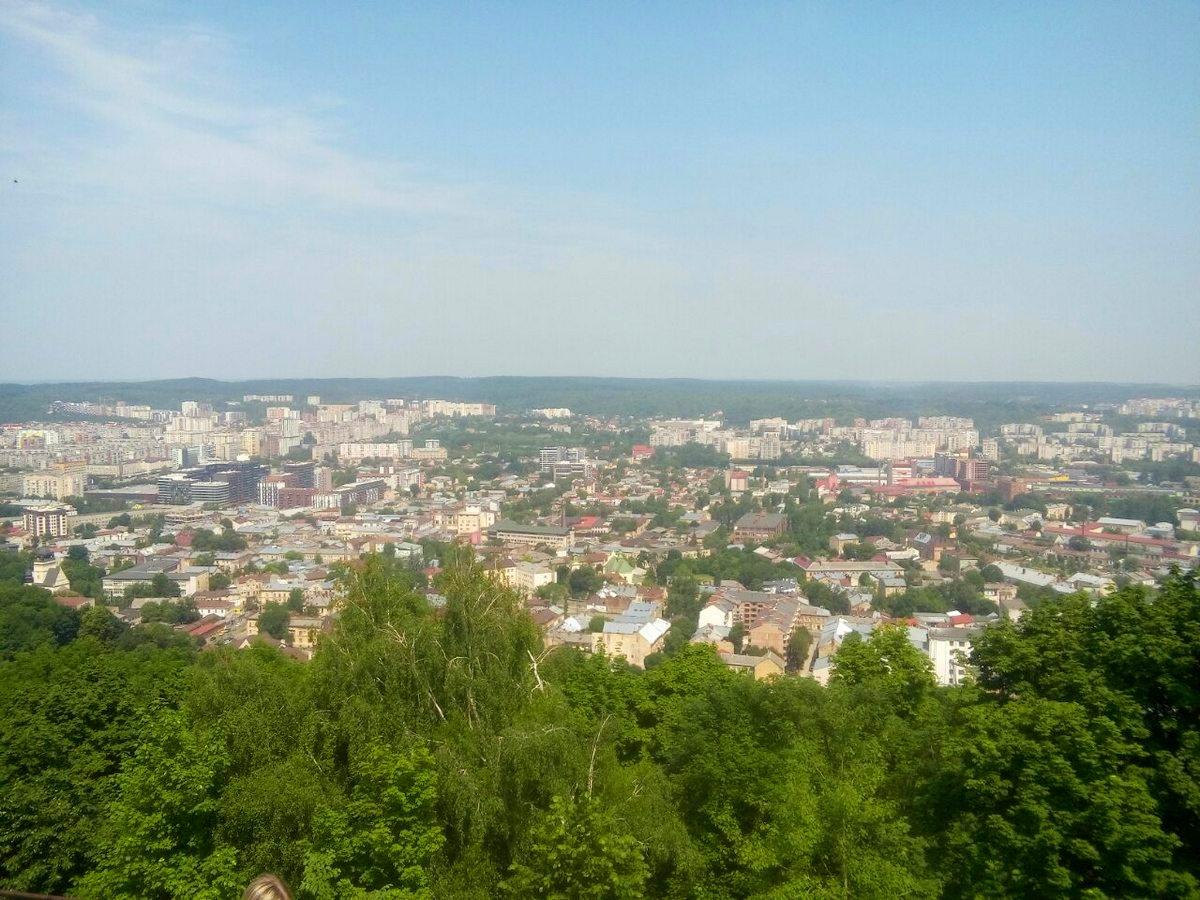Вид на Львов с Замковой горы. Фото: Елена ЗЕЛЕНКО