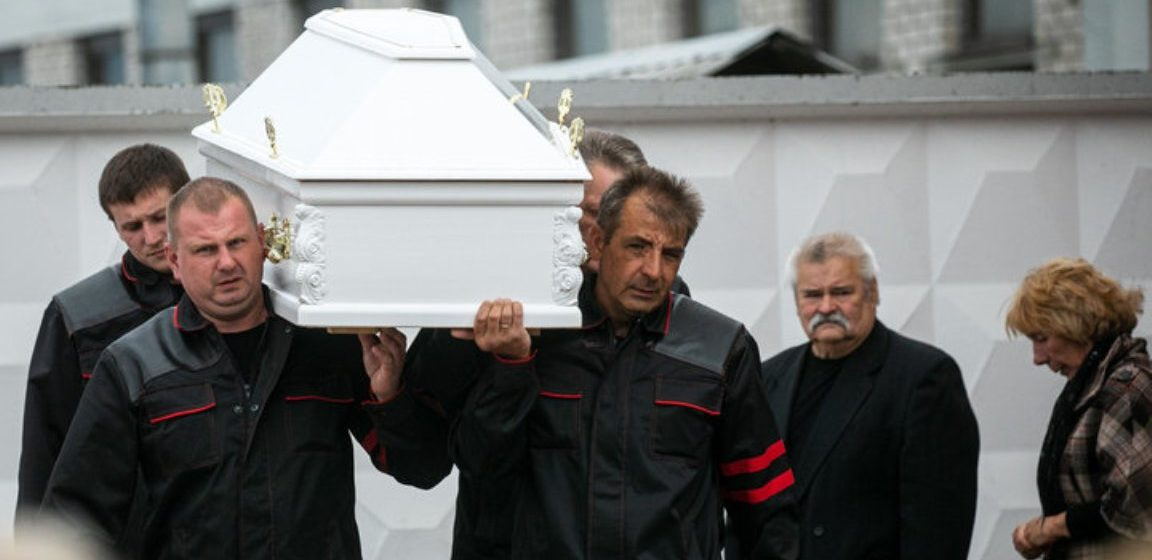 В Минске простились с женщиной, погибшей во время салюта 3 июля