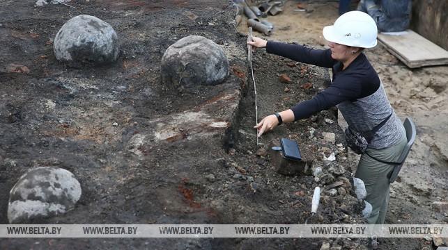 В Гродно нашли ядра от средневековых осадных машин