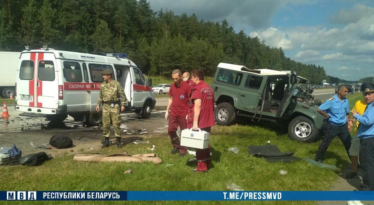 Место ДТП. Фото: МВД Беларуси