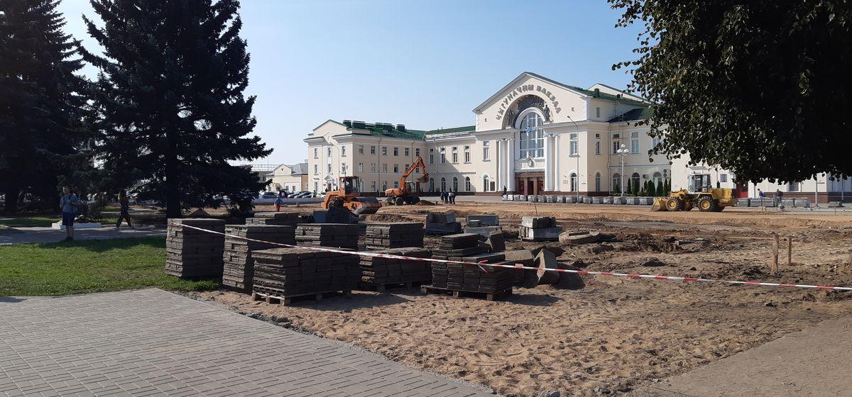 Как идет реконструкция привокзальной площади в Барановичах