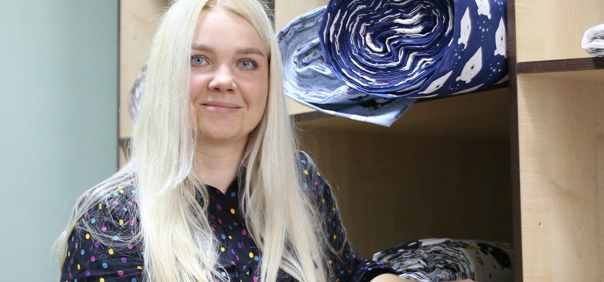 В ассортименте, который предлагает Татьяна Микула,  более 50 видов тканей.  Фото: Александр ЧЕРНЫЙ