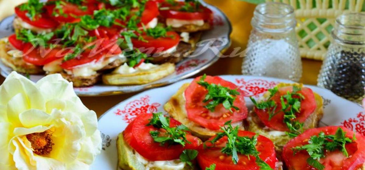 Вкусно и просто. Жареные кабачки с помидорами