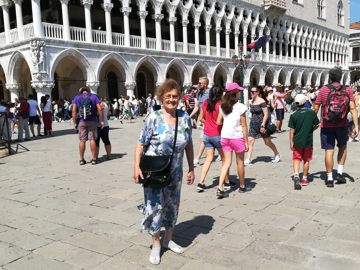 На площади святого Марка в Венеции. Фото: личный архив Галины Сосновской