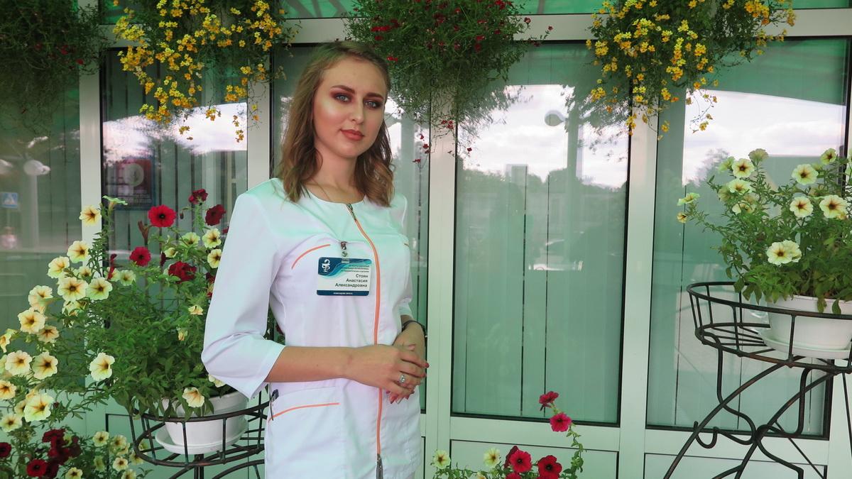 Анастасия Стоян, помощник врача по амбулаторно-поликлинической помощи 1 терапевтического отделения. Фото: Александр ЧЕРНЫЙ