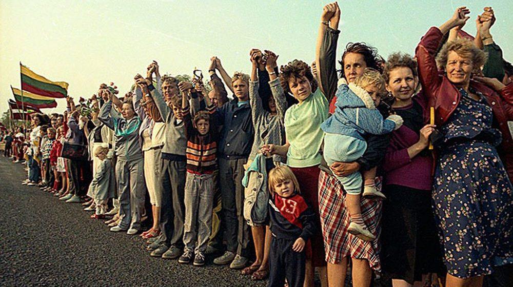 Балтийский путь – как это было 30 лет назад. Фото