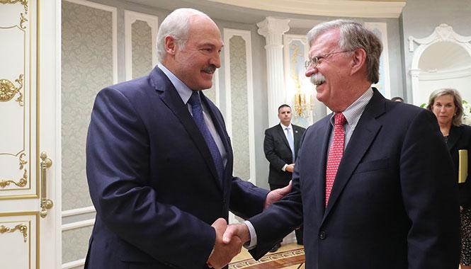 Встреча Александра Лукашенко с советником Президента США по национальной безопасности Джоном Болтоном Фото: http://president.gov.by