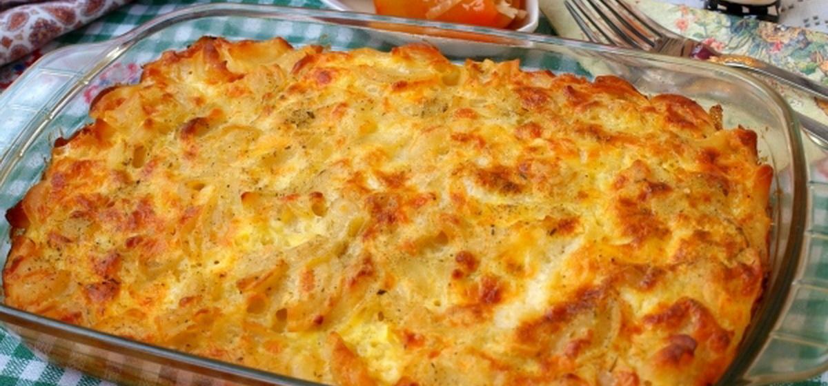 Вкусно и просто. Макароны, запеченные с сыром в духовке