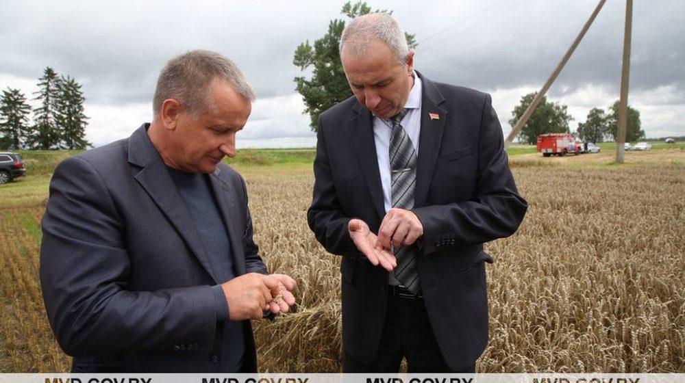 Министр внутренних дел Караев проинспектировал жатву. Фотофакт