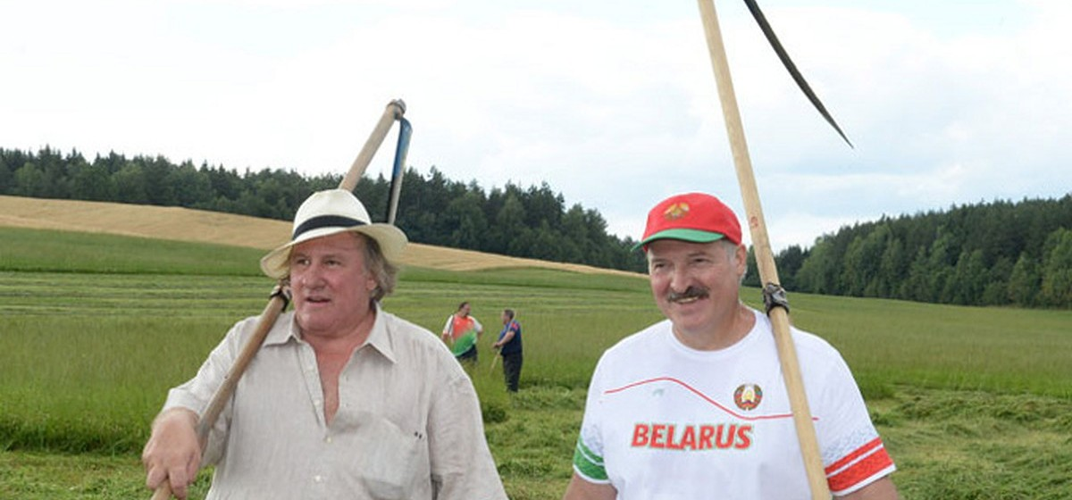 Жерар Депардье и Александр Лукашенко в 2015 году. Фото: president.gov.by