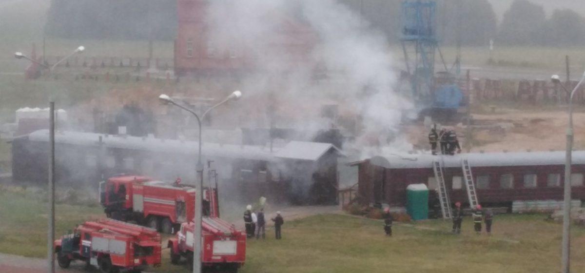 В Барановичах загорелся церковный вагончик, в котором располагается воскресная школа
