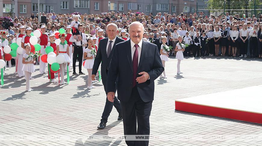 Лукашенко провел для старшеклассников первый урок