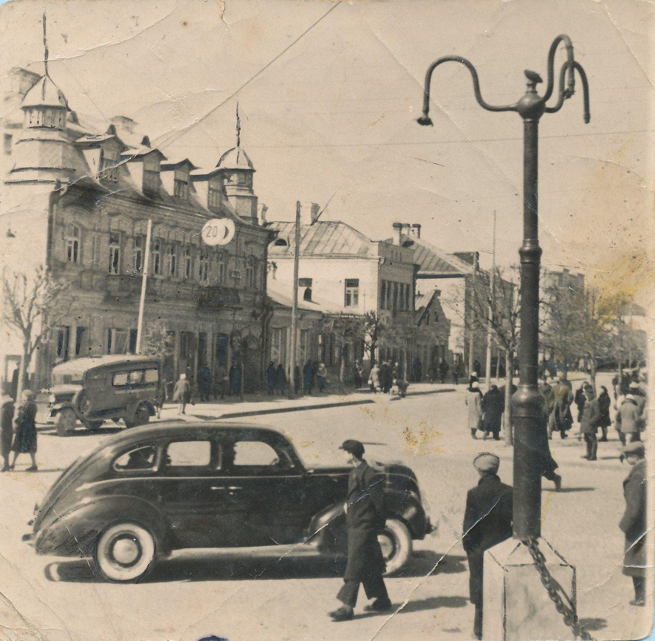 Улица Советская. Весна 1941 года (на снимке запечатлена центральная улица города за несколько месяцев до начала Великой Отечественной войны). Фото: архив Барановичского краеведческого музея