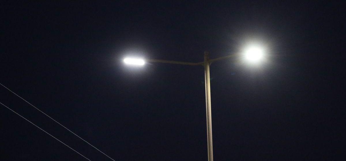 На некоторых улицах Барановичей отключили уличное освещение. Почему и как надолго?