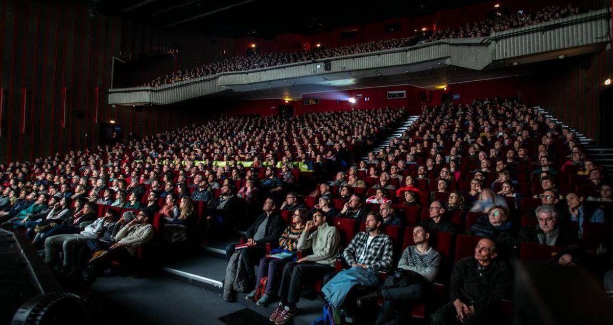 Февраль 2019 года, Франция. Премьерный показ фильма Алексея Полуяна «Озеро радости» на международном кинофестивале Clermont-Ferrand. Фото: архив Алексея ПОЛУЯНА
