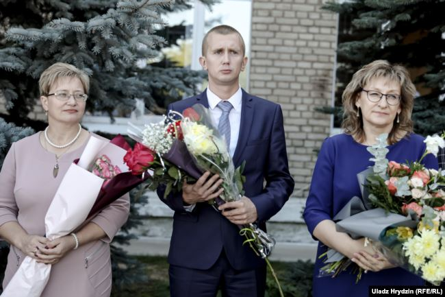 Алексей Судник на линейке. Фото: https://www.svaboda.org