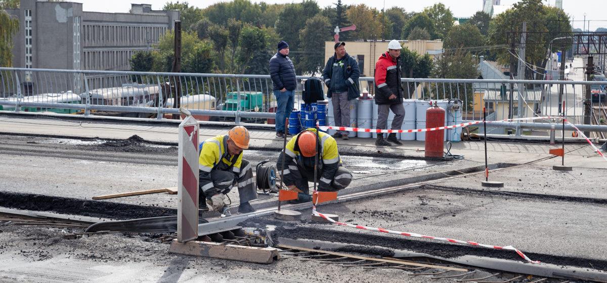 Когда закончится реконструкция первой части Полесского путепровода?