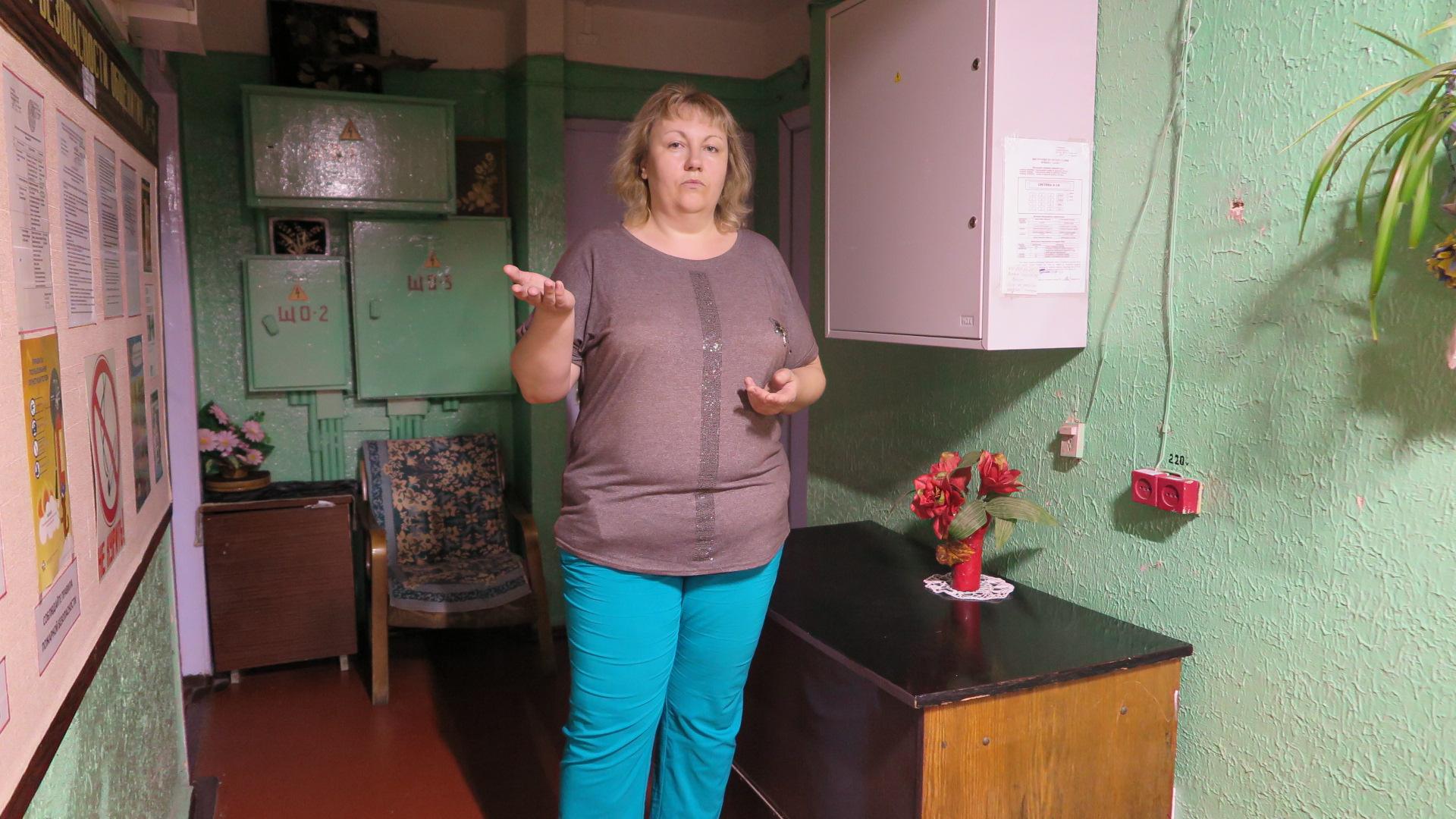 Анна Шевцова, проживающая в общежитии более пяти лет. Фото: Ирина ПЛЮТО