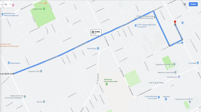 Схема движения маршрутки № 43-Т в период с 23.09.19 по 27.09.19 года.