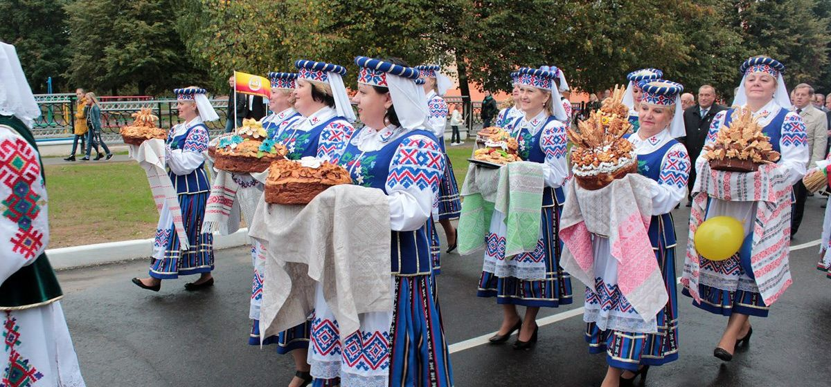Посетить выставку караваев, поучаствовать в семейном турнире по мини-футболу можно на Дожинках Барановичского района