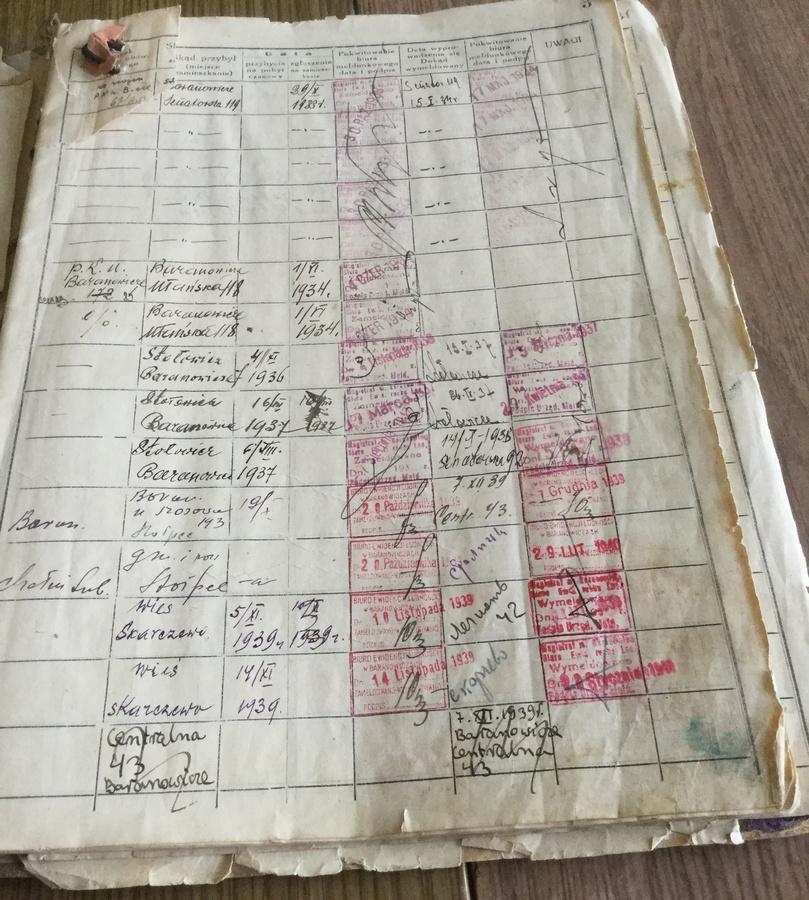 Одна из страниц домовой книги. Фото из архива семьи Рафалик