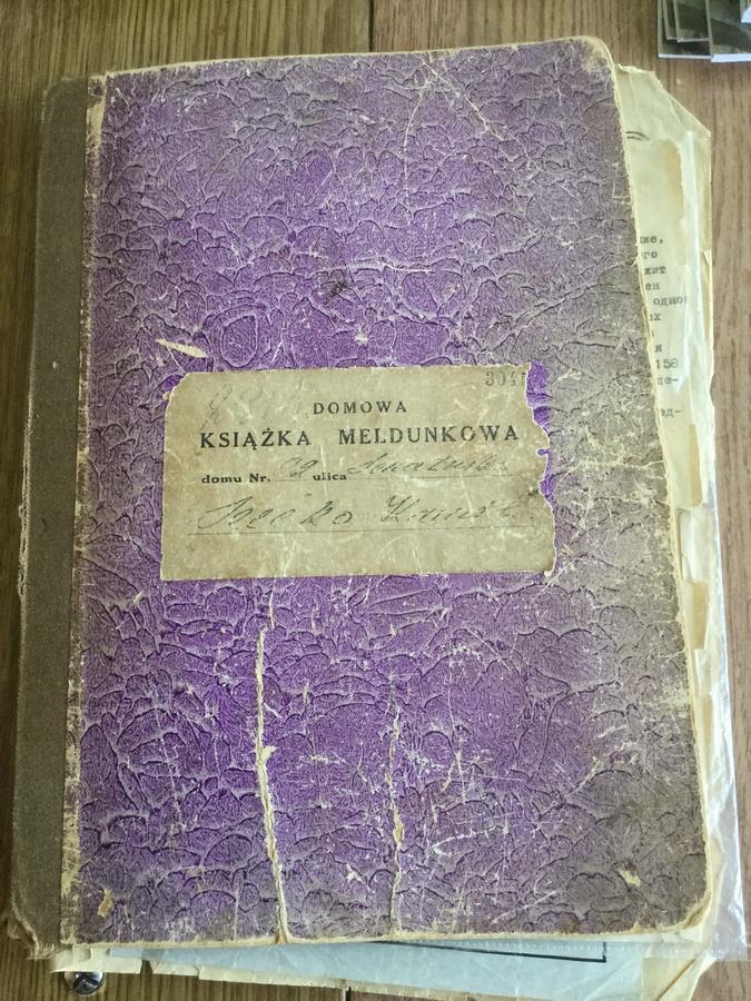 Домовая книга. Фото из архива семьи Рафалик