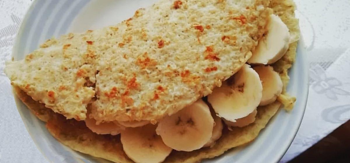 Вкусно и просто. Блины из овсяных хлопьев с бананами