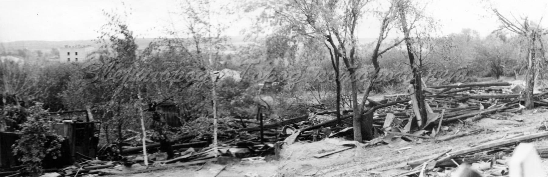 Дом Богомоловых после авиакатастрофы. Фото: zvenigorod-gorod.net