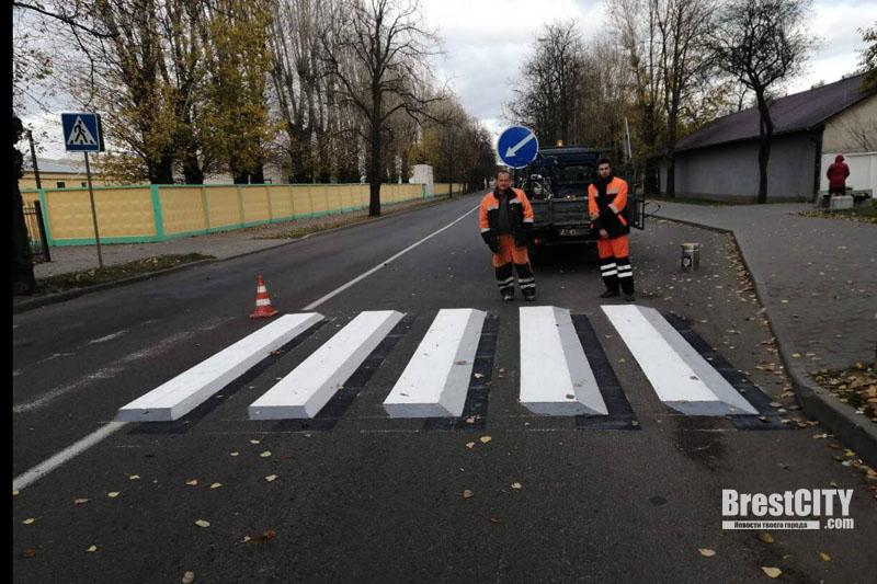 В Бресте появился первый 3D пешеходный переход. Фото