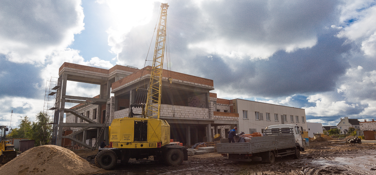 Как идет строительство нового здания скорой помощи. Фото