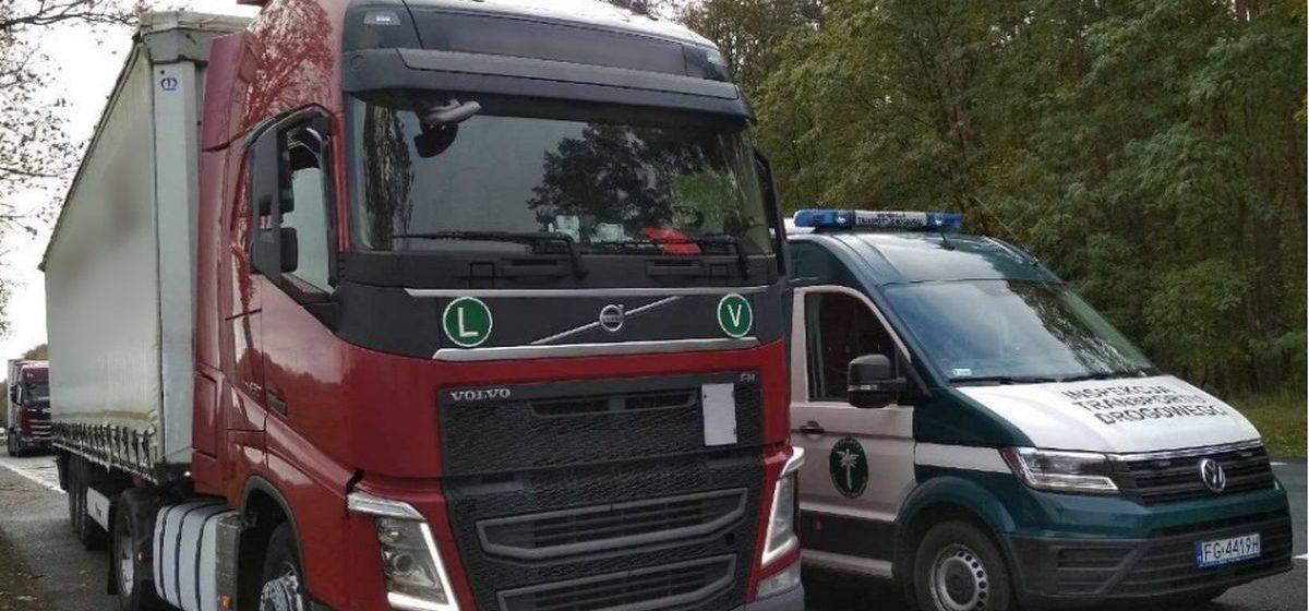 Пьяного белорусского дальнобойщика задержали в Польше