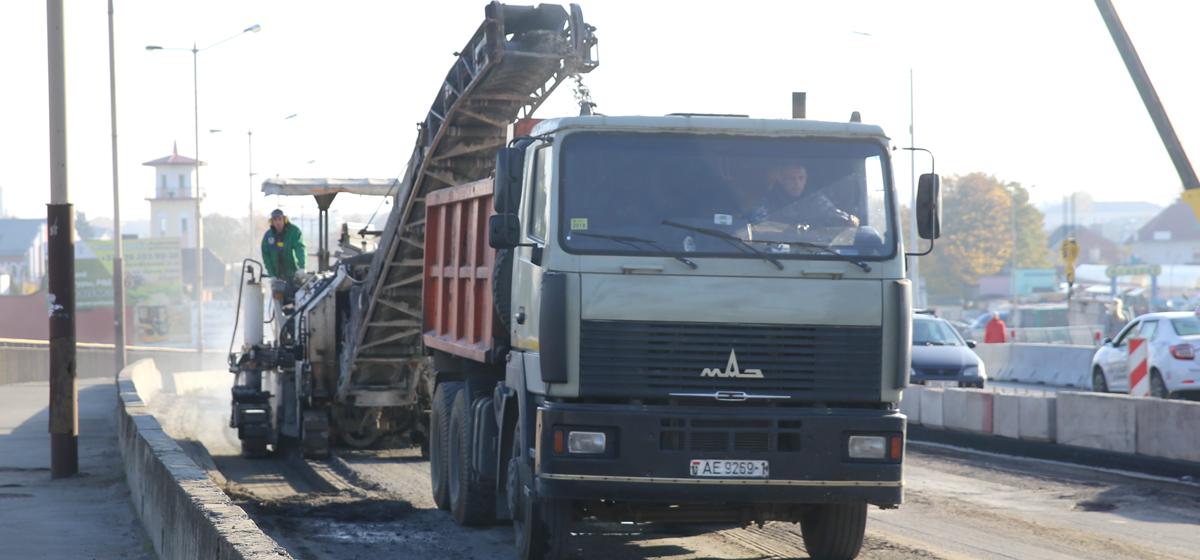 В Барановичах начался ремонт второй части путепровода. Фото