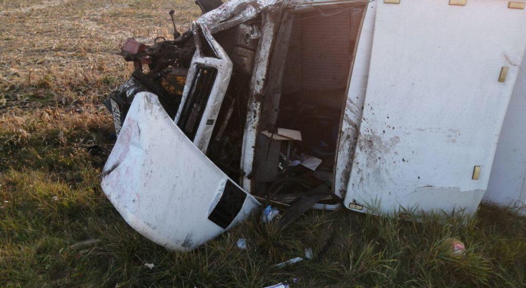 Бесправник на бусе влетел в грузовик в Брестской области