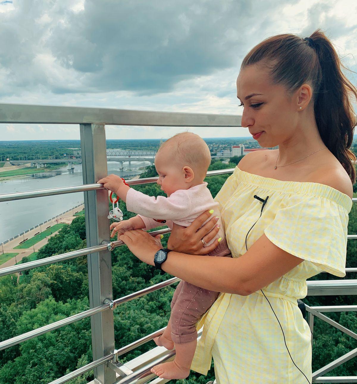 Надя с Соней в Гомеле, июль 2019 года. Фото: архив семьи