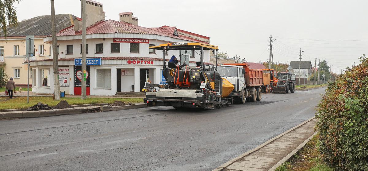 Улицу Шевченко ремонтируют в Барановичах. Фотофакт