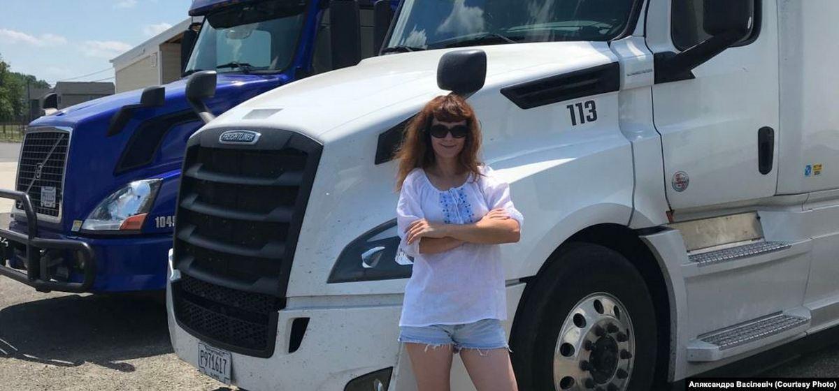 «Что мне родина может предложить – работу за 250 долларов?». Как белорусская оппозиционерка уехала из страны и стала дальнобойщицей в США