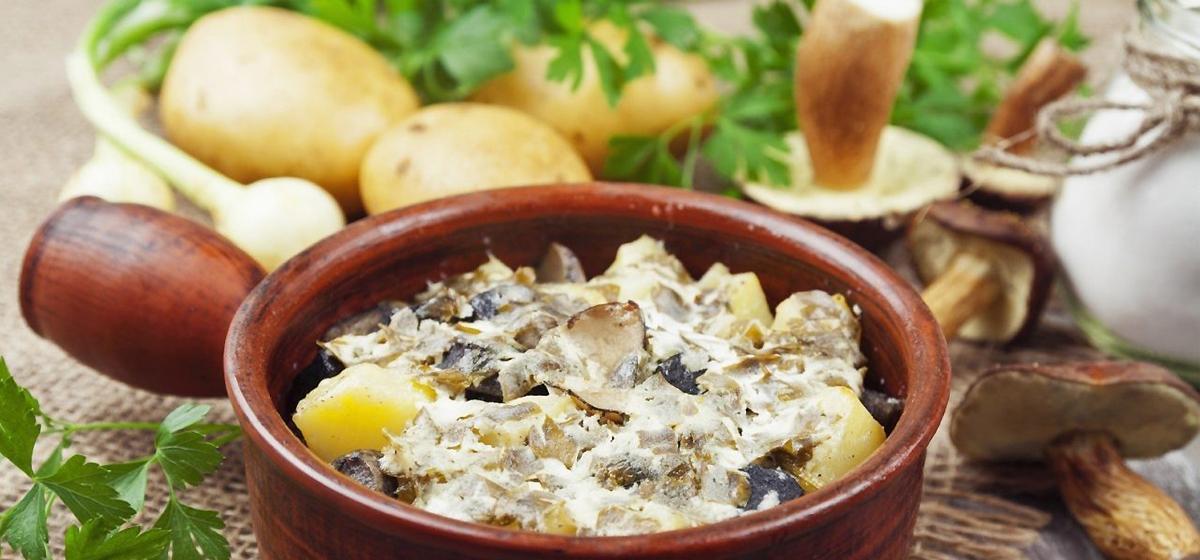 Вкусно и просто. Картофель с грибами в духовке