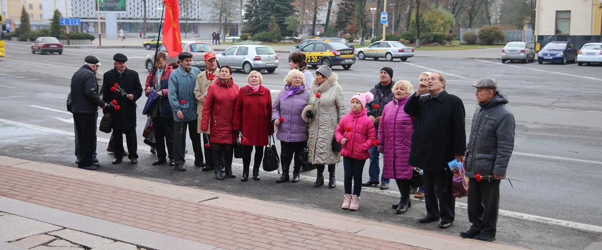 В Барановичах прошел митинг, приуроченный ко дню Октябрьской революции