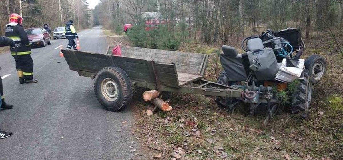 Под Гродно перевернулся самодельный трактор — погиб 34-летний водитель