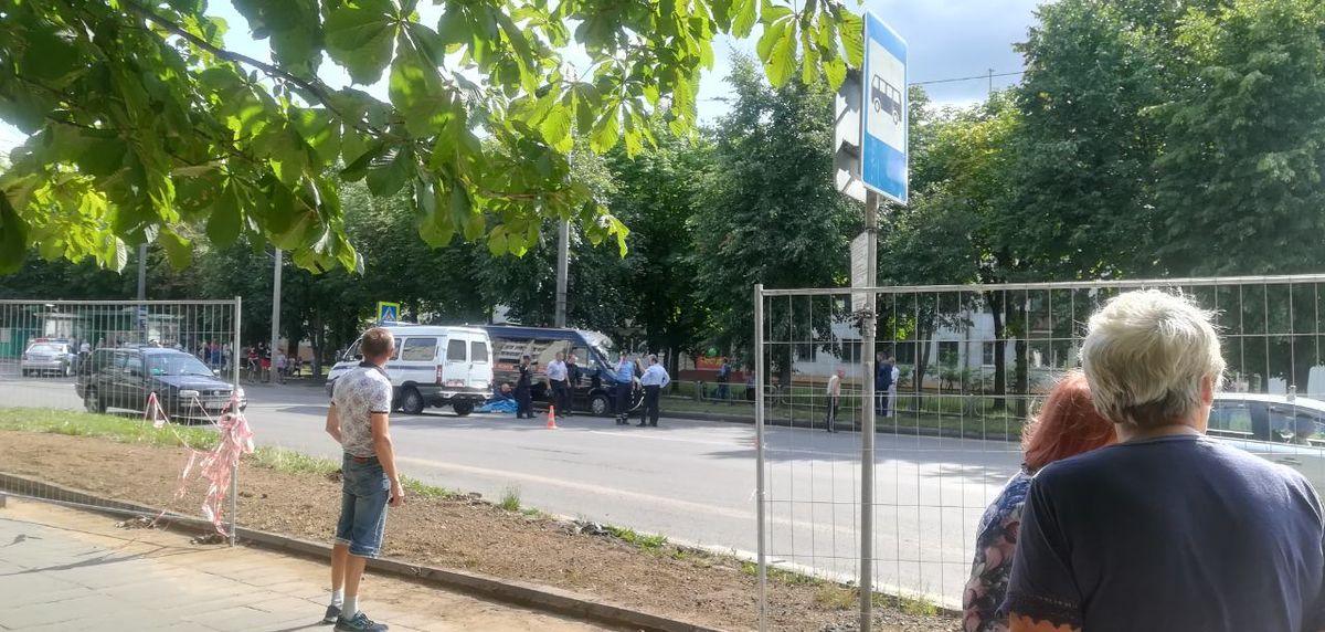 На месте ДТП, 22 июля. Фото: Ирина ПЛЮТО