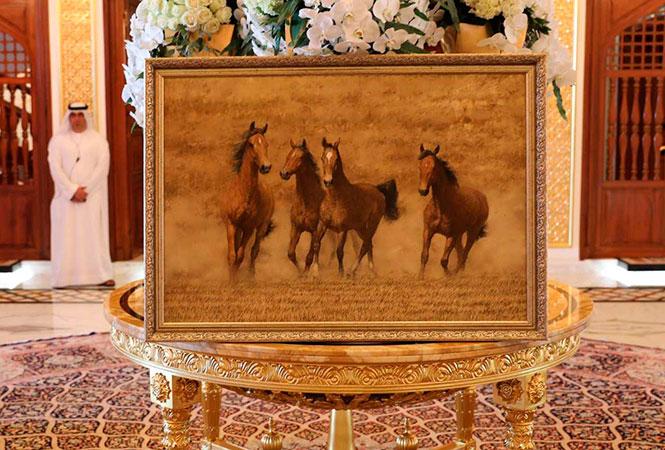 Картина Андрея Ситько «Лошади». Фото: president.gov.by