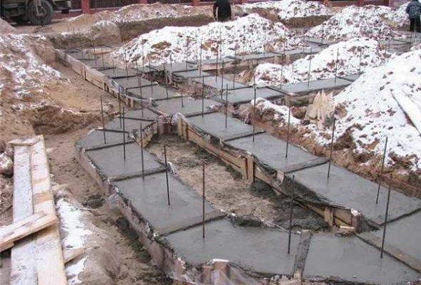 Модуль поверхности в зимнем бетонировании
