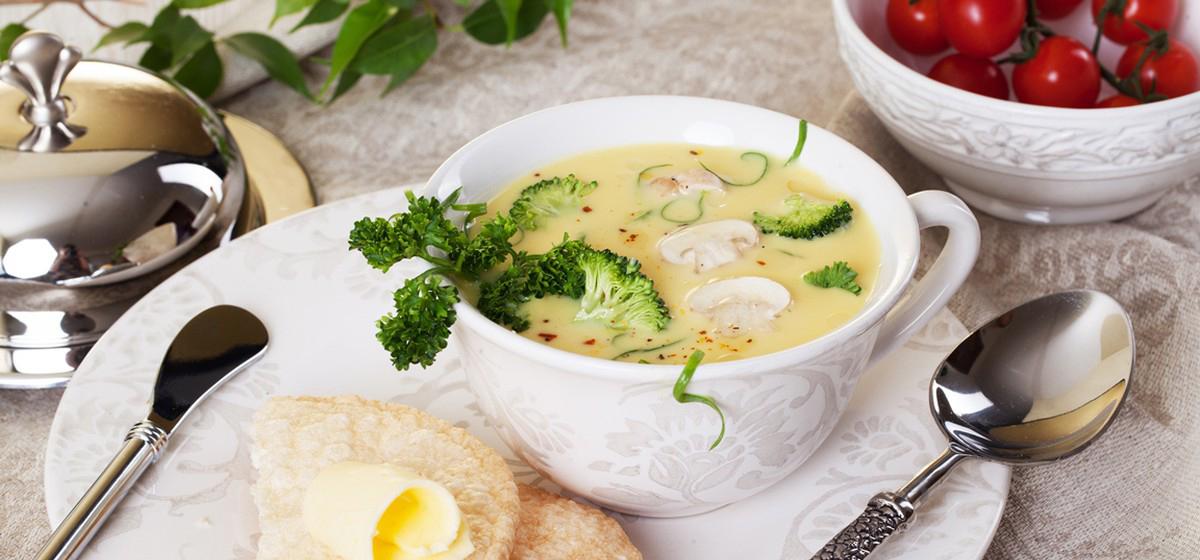 Вкусно и просто. Сырный суп с брокколи и грибами
