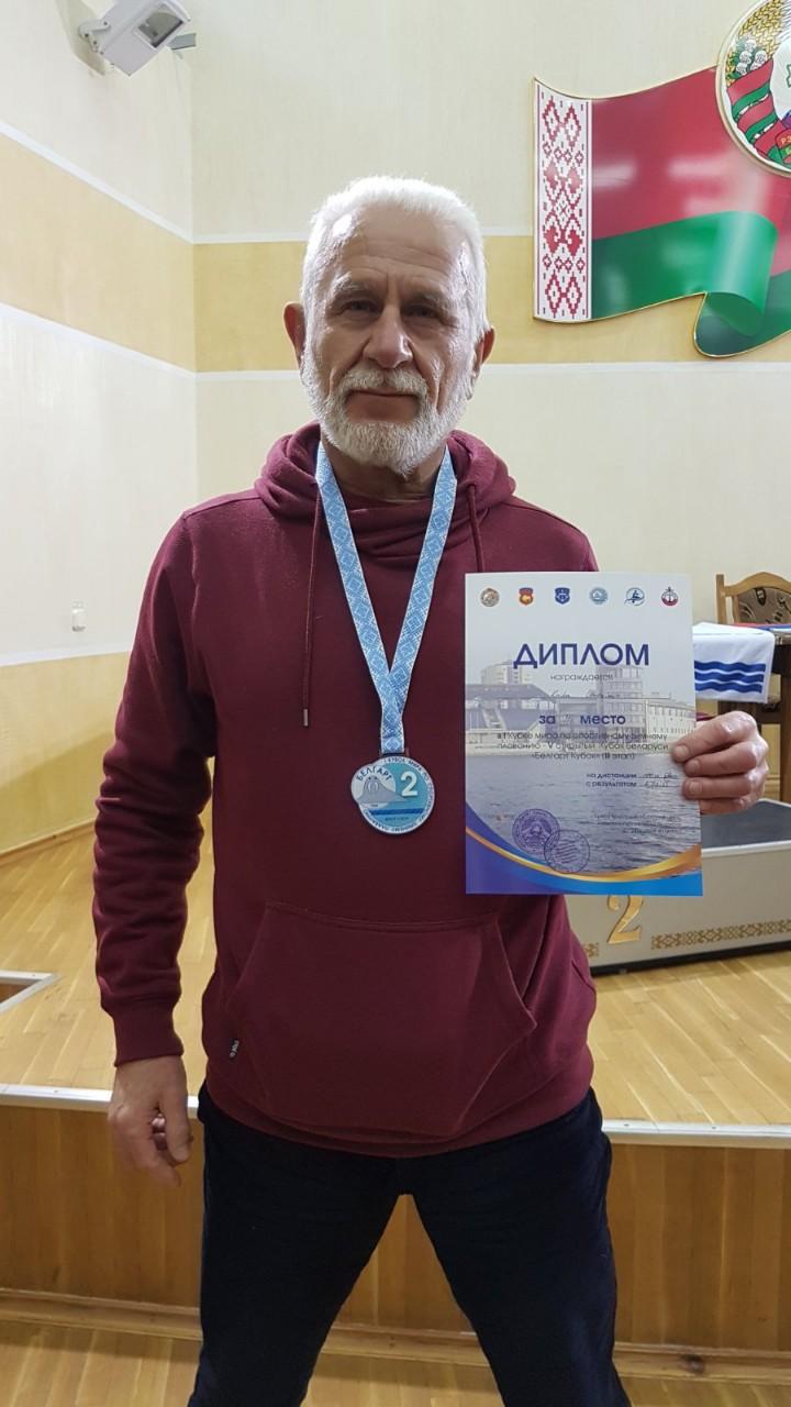 Владимир Книга – второй на дистанции 50 метров брассом. Фото: личный архив