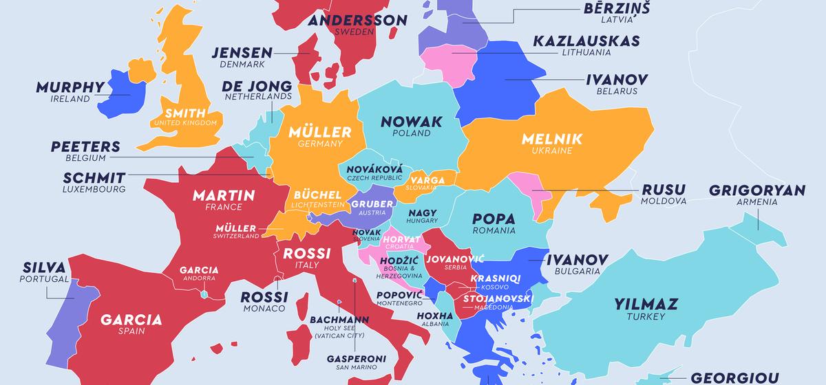 Смит, Иванов и Мюллер — специалисты определили самые распространенные фамилии по странам